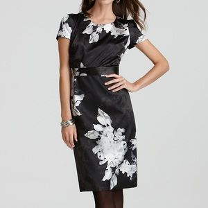 NWT Tahari Ciara Black Floral Dress